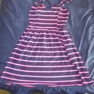 Other - Navy blue and pink dress